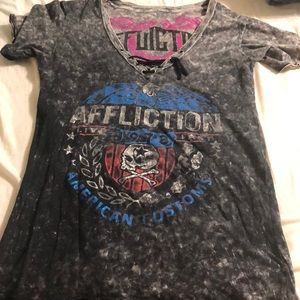 Affliction reversible tee